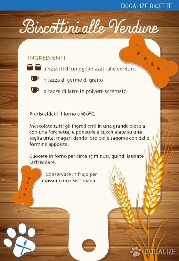 Ricette per cani: Biscottini alle verdure