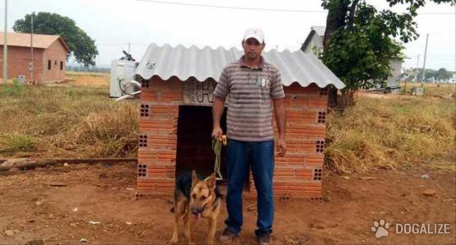 Un uomo brasiliano che abita una zona molto calda, ha deciso di mettere l'aria condizionata nella cuccia della sua cagnolina