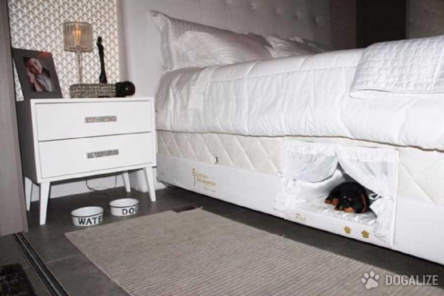 cuccia incorporata nel letto