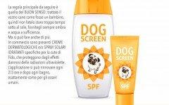 Cani al mare e protezione solare per i cani