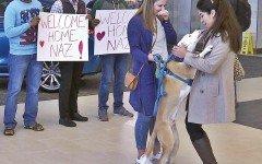 Se reúne con su perro tras ser separados por el decreto Trump