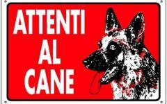 I cartelli Attenti al cane, l'origine dell'avviso