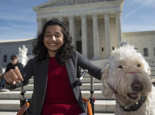 Ragazzina disabile può andare a scuola con il cane