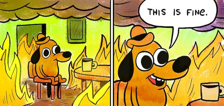 This is Fine dog: the story behind the dog meme