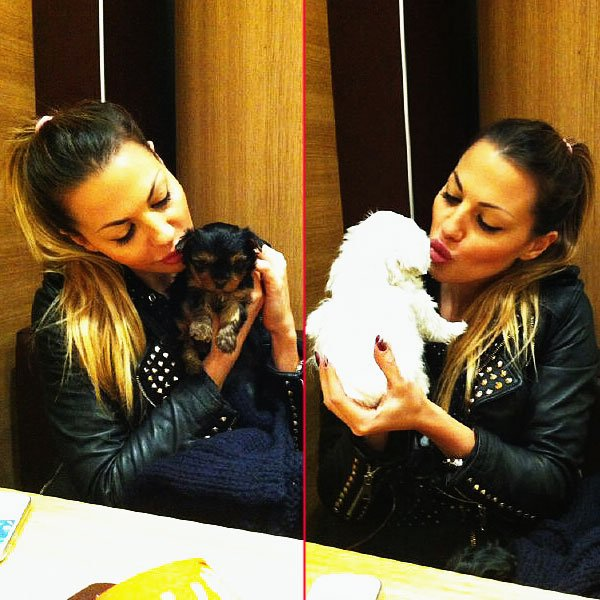 Barbara Guerra e l'amore per i suoi due cuccioli