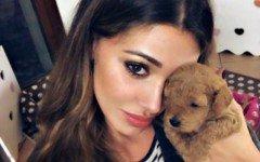 Belén Rodriguez e il suo amore per i cani toy