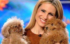 Michelle Hunziker e i suoi bellissimi barboncini Lilly e Leone