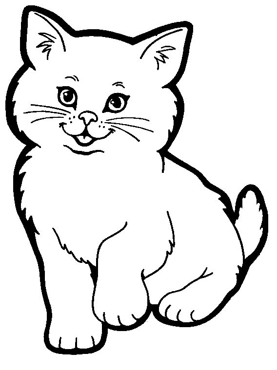 how about some cute cat coloring pages - Color Pages