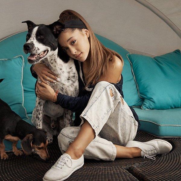 Ariana Grande e il suo amore per i cani