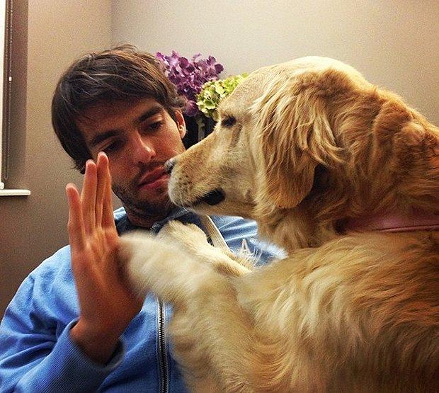 Kakà e il suo immenso amore per il cagnolone Me