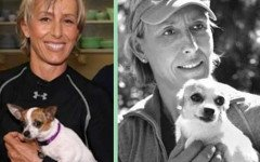 Martina Navratilova e il suo amore vero per i cani
