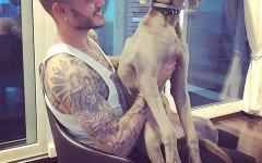 Mauro Icardi e la cagnolina Coco: amici inseparabili