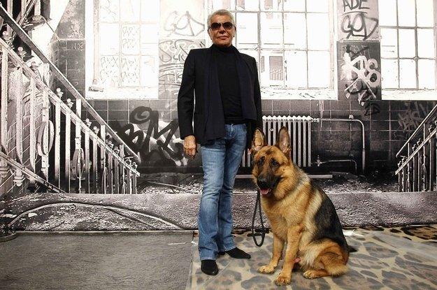Roberto Cavalli el diseñador de las mascotas