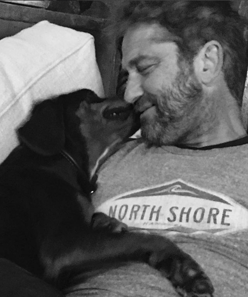 Gerard Butler e il cane che gli ha rubato il cuore