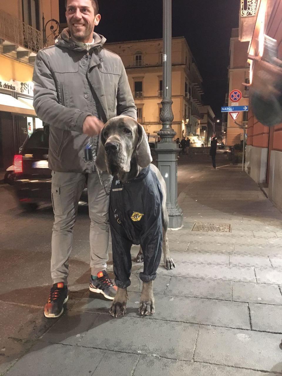 Danilo Russo inseparabile dal suo cane Silver