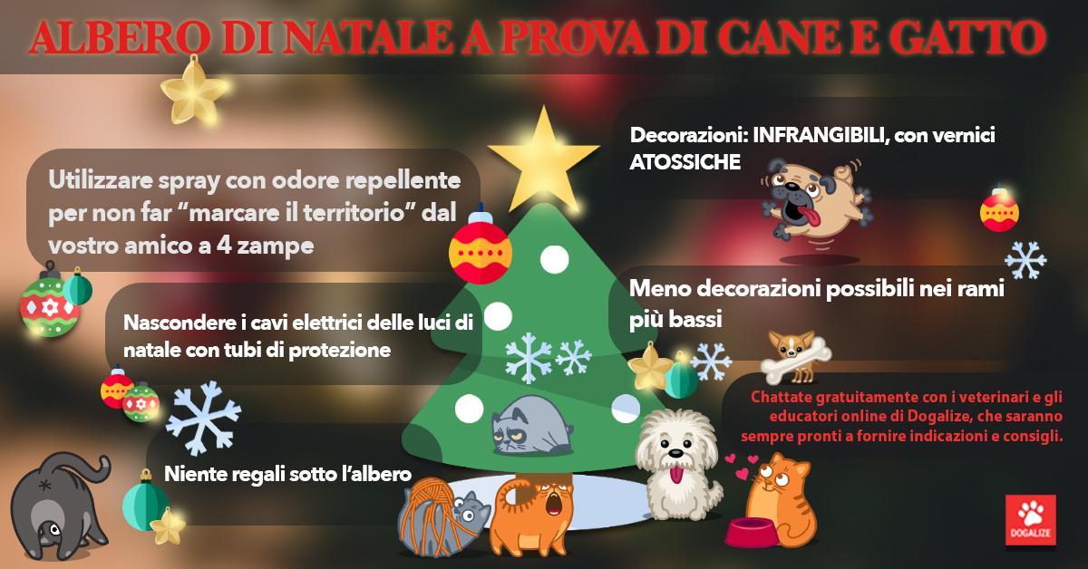 Infografica: albero di Natale a prova di cane e gatto