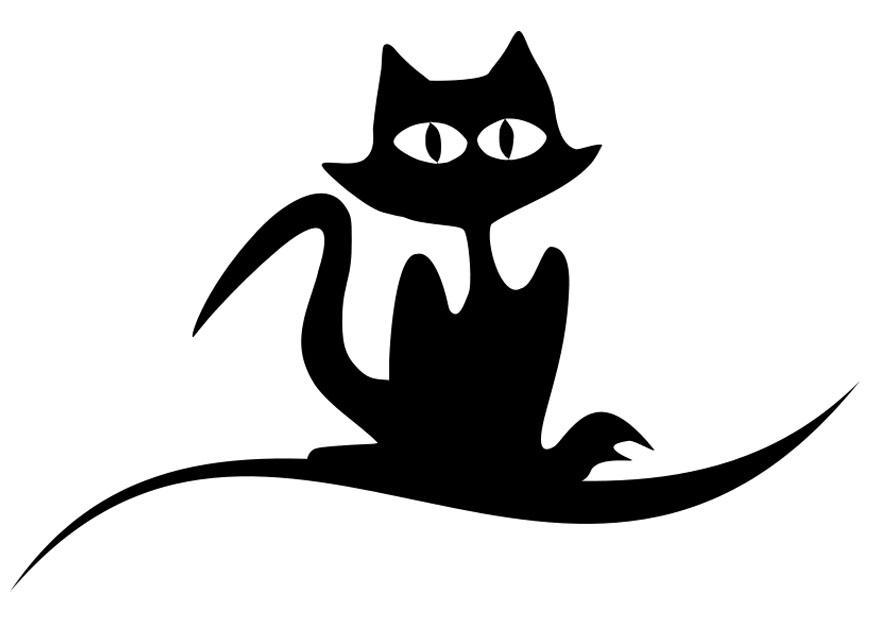 Gato negro dibujo: cómo dibujar la silueta de un gato negro