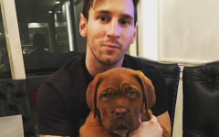 Lionel Messi and His Massive Dog