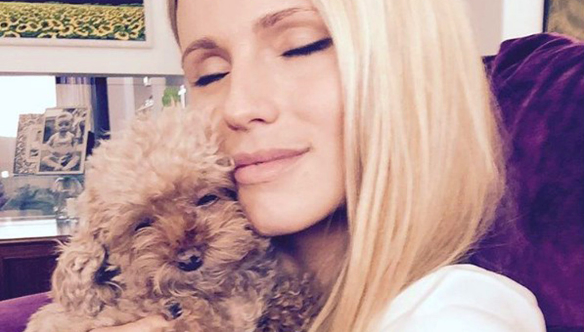 Michelle Hunziker and her Dog Lilly, pure love