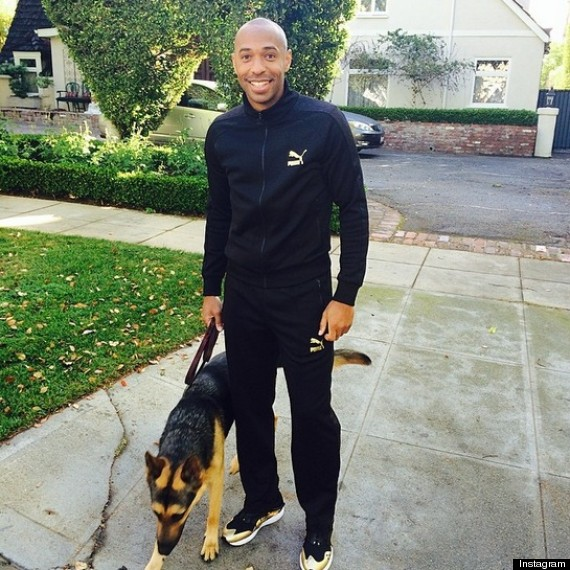 Thierry Henry and The Dog in the Picture