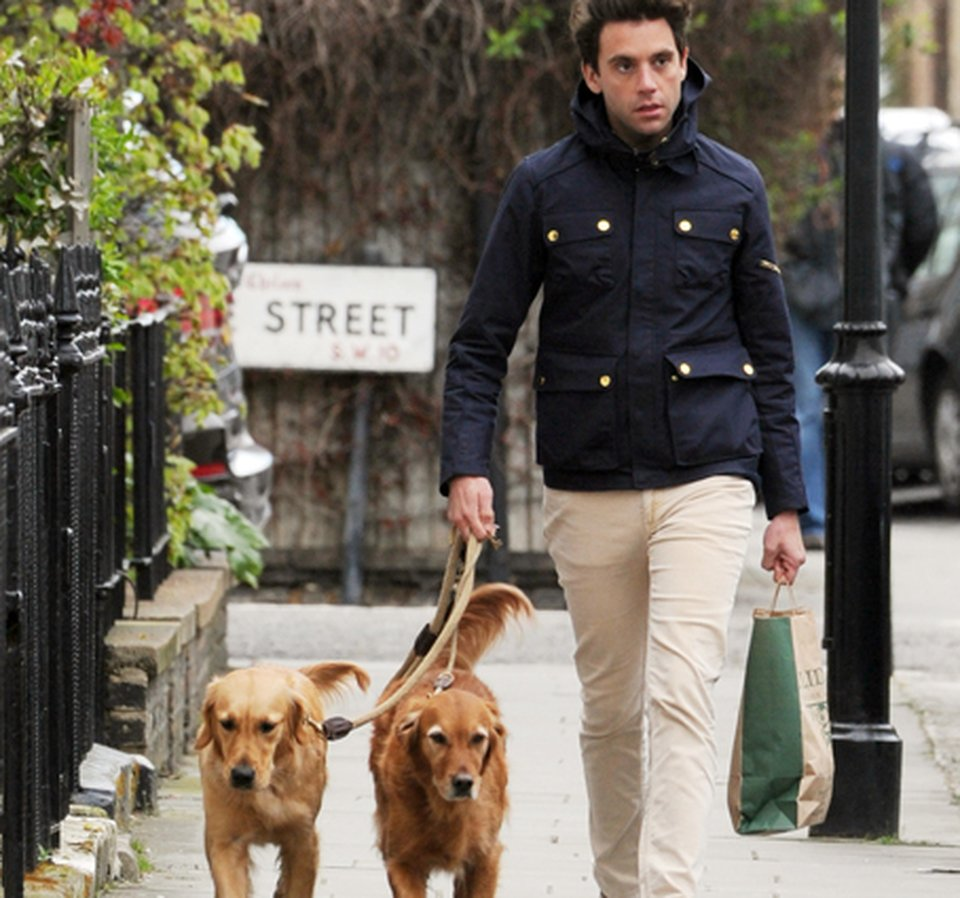 Mika and his dogs, Amira and Melachi