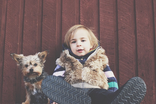 Dogs and children in the open air are a good combination